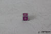 D6 Meteor Polyhedral Metal Dice- Purple with Silver Frame