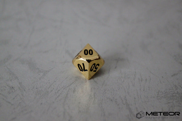 D% Meteor Polyhedral Metal Dice- Gold