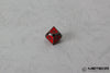 D% Meteor Polyhedral Metal Dice- Red with Metallic Gray