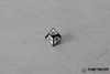 D% Meteor Polyhedral Metal Dice- White with Metallic Gray