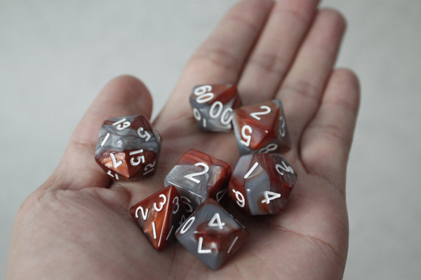 D.O.U Plastic Polyhedral Set - Duo Colors Series - Brown & Gray