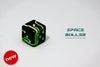 1 Die of Space Roller Dice MK II - Green Groove Black Finish