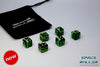 (B GRADE) A 12 Dice Set of Space Roller Dice MK II Set - Green Groove Black Finish