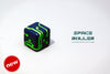 1 Die of Space Roller Dice MK II - Green Groove Navy Blue Finish