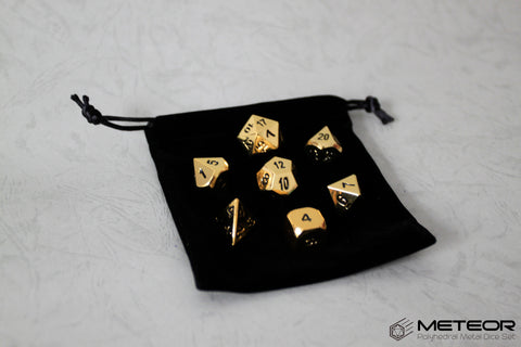 Meteor Polyhedral Metal Dice Set