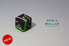 1 Die of Space Roller Dice MK II - Green Groove Purple Finish