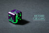 Space Roller Dice - Green Glow Purple Finish ( Discontinued )