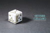 Space Roller Dice - Green Glow White Finish