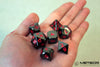 Meteor Polyhedral Metal Dice Set- Metallic Gray