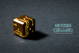Orange Glow Bronze Finish Space Roller Dice