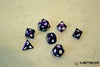 Meteor Polyhedral Metal Dice Set- Purple