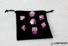 Meteor Polyhedral Metal Dice Set- Purple with Silver Frame