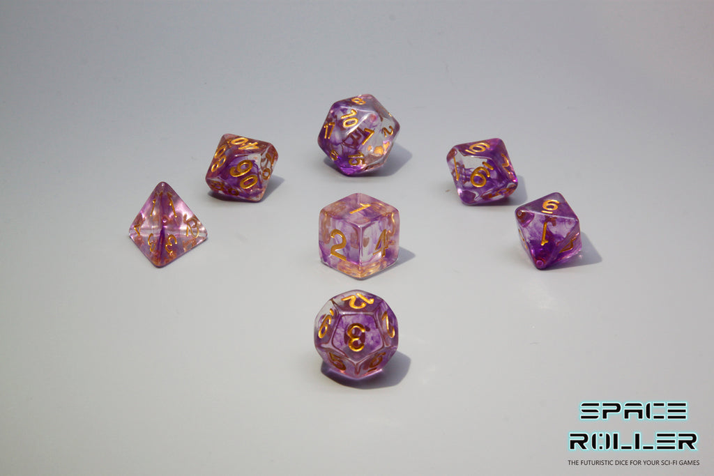 D.O.U Plastic Polyhedral Set - Freeze Moment Series - Purple