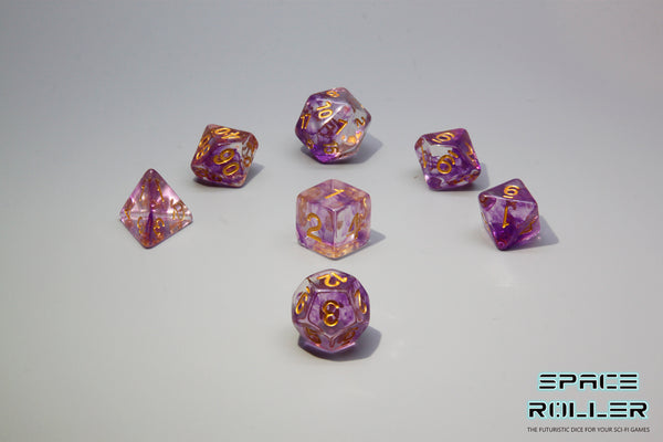 Plastic Polyhedral Set - Freeze Moment Series - Purple