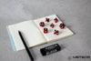 Meteor Polyhedral Metal Dice Set Set- Red