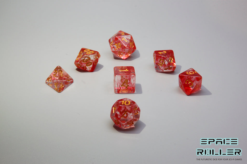D.O.U Plastic Polyhedral Set - Freeze Moment Series - Red