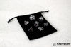 Meteor Polyhedral Metal Dice Set- Black with Silver Frame