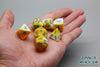 Plastic Polyhedral Set - Marbelous Series - Yellow