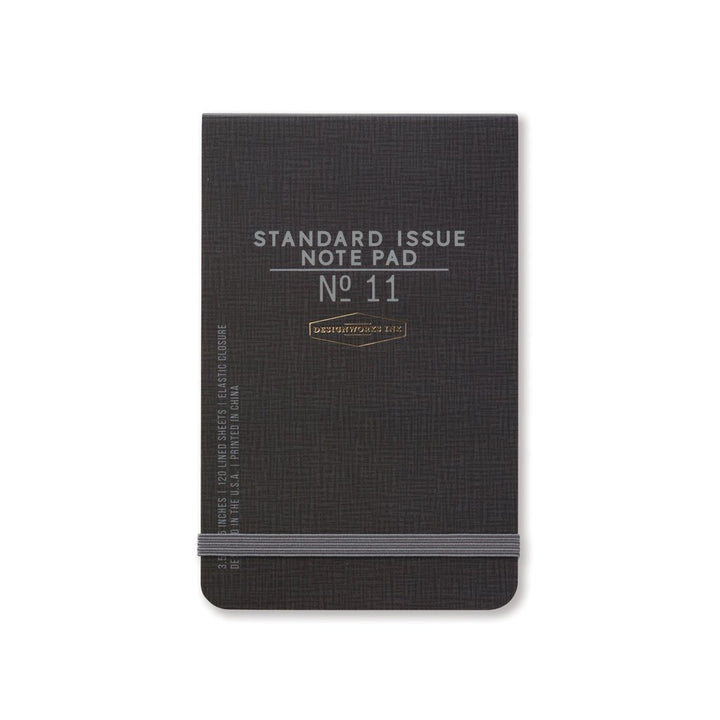 Standard Issue Note Pad, Black