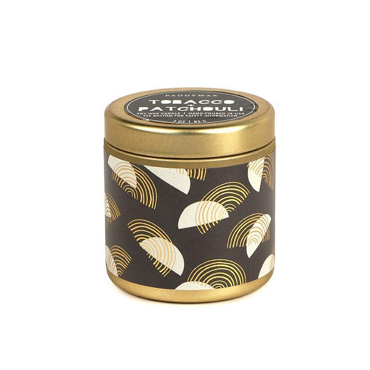 Tobacco & Patchouli Candle Tin