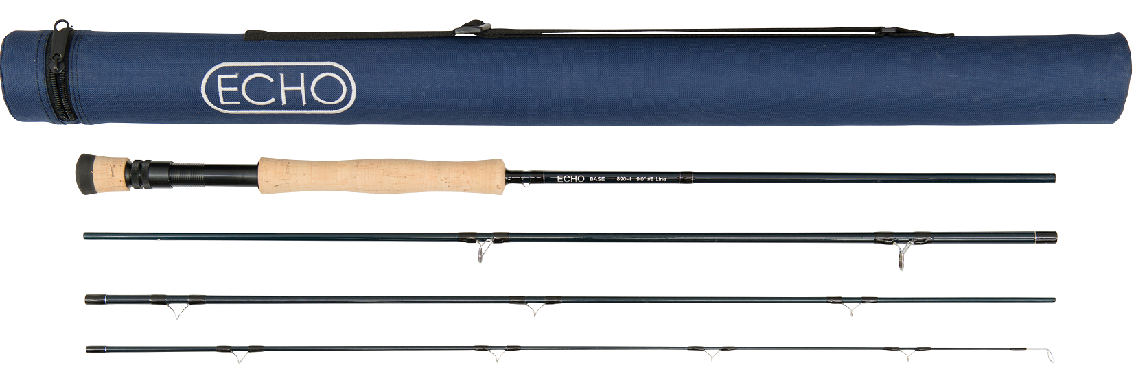 SHIPPING ECHO ION XL 990-4 9/' FOOT #9 WEIGHT 4 PIECE FLY ROD TUBE FREE U.S