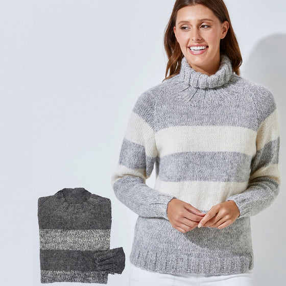 523 LADIES & MENS STRIPED JUMPER