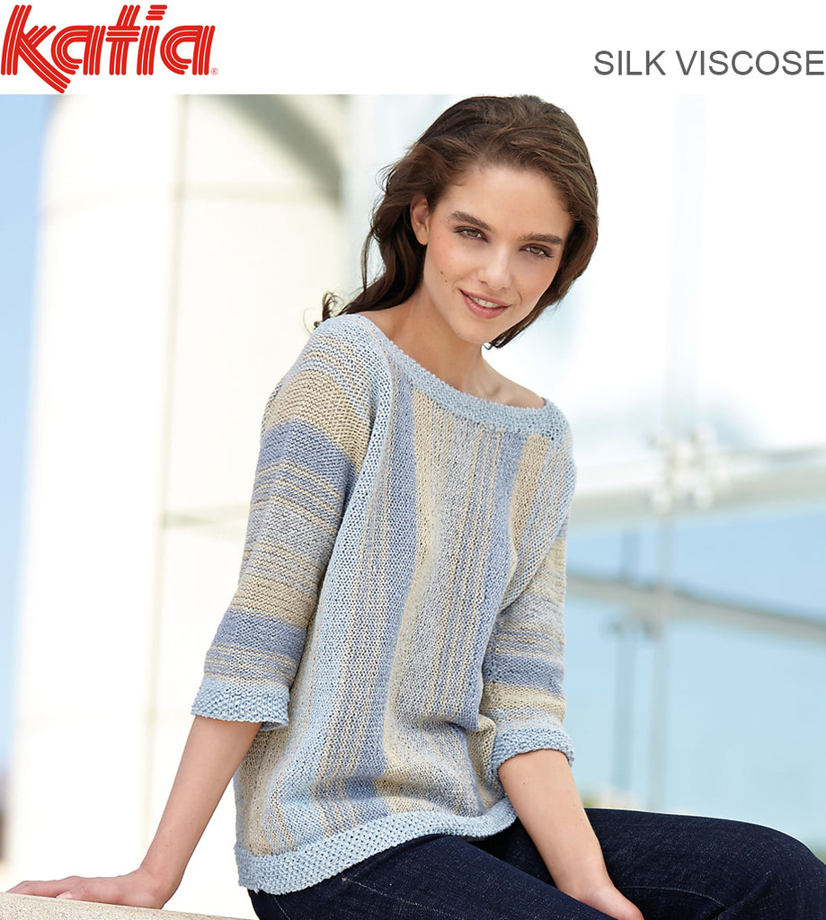 616 STRIPED JUMPER KNITTED SIDEWAYS