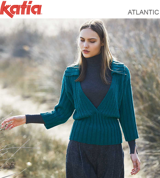 TEXTURED JUMPER WITH 3/4 SLEEVES 8802