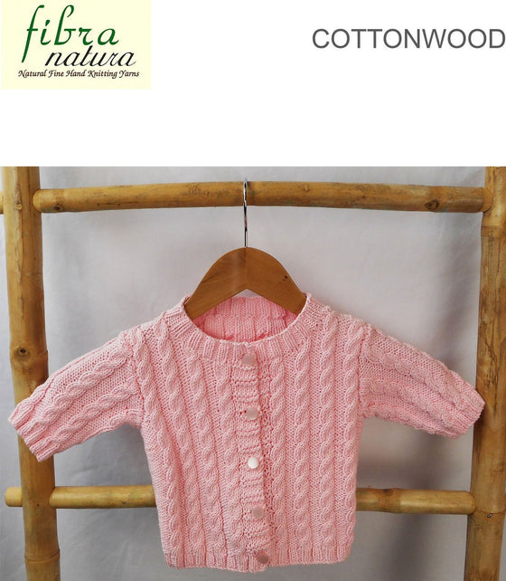 TX066 Cottonwood Baby's Cable Cardigan