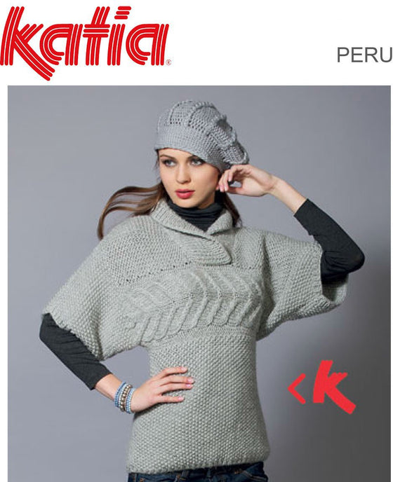 TX073 Peru Cable Yoke Sweater