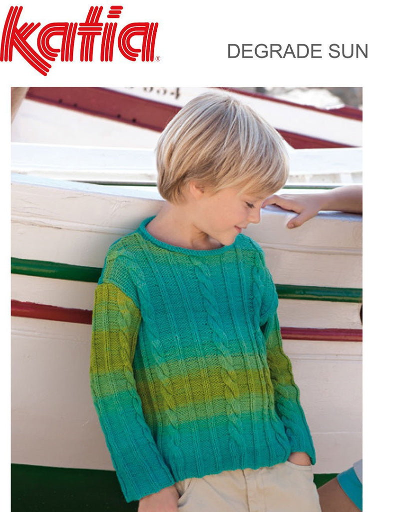 TX109 Degrade Sun Cable Sweater