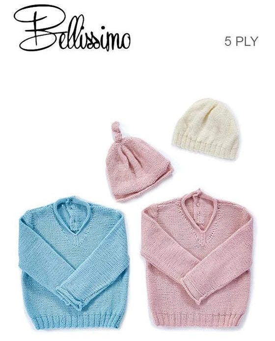 TX345 Bellissimo 5 Baby Classic Sweater & Beanies