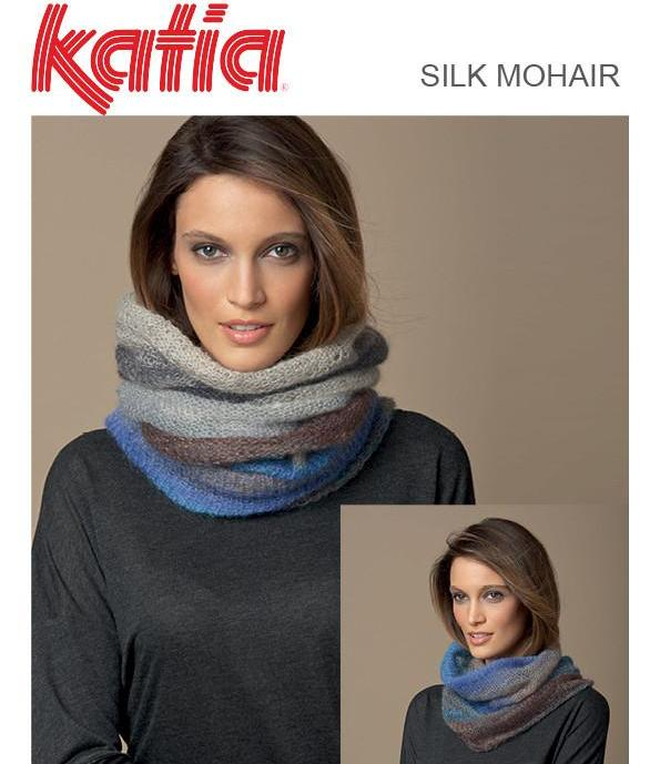TX490 Silk Mohair 2-way Cowl
