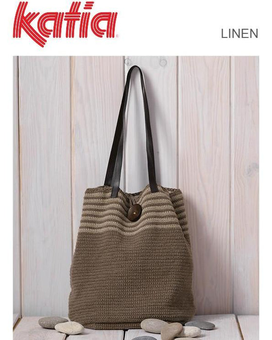 TX516 Linen Crochet Bag
