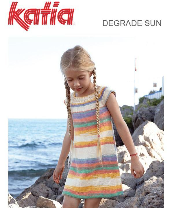 TX593 Degrade Sun Girls Dress