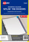 Avery Red & Blue Mylar Tab Dividers, A-Z Index (85742)