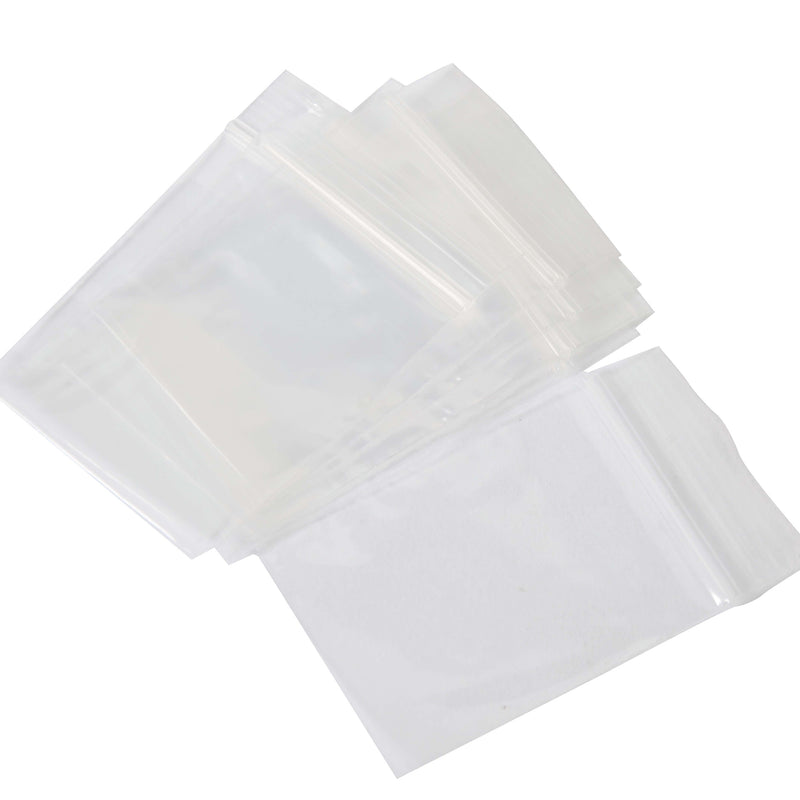 Plastic Bag Resealable 100mm x 125mm 100 Pack