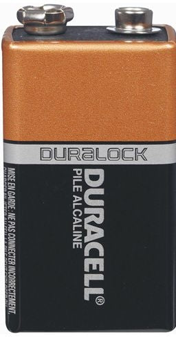 Duracell 9V Alkaline Battery Each