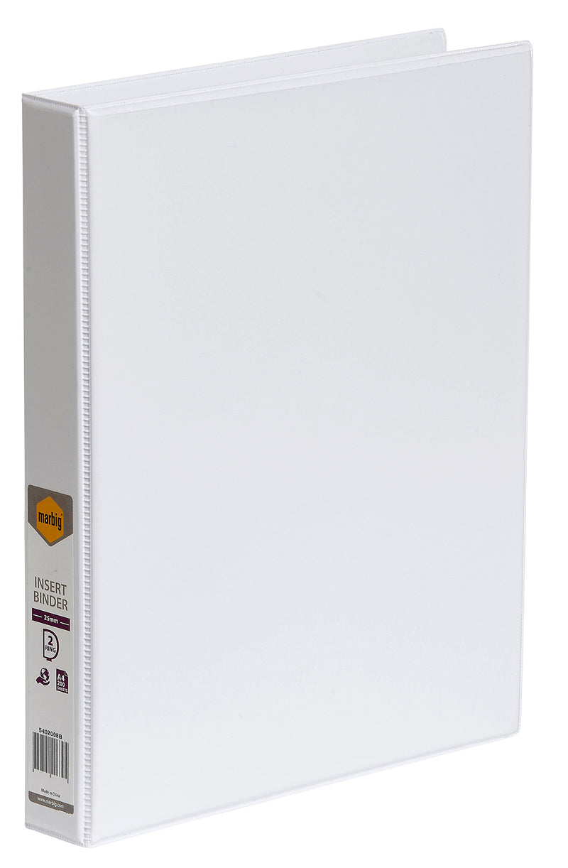 Binder 2D A4 25mm Insert White