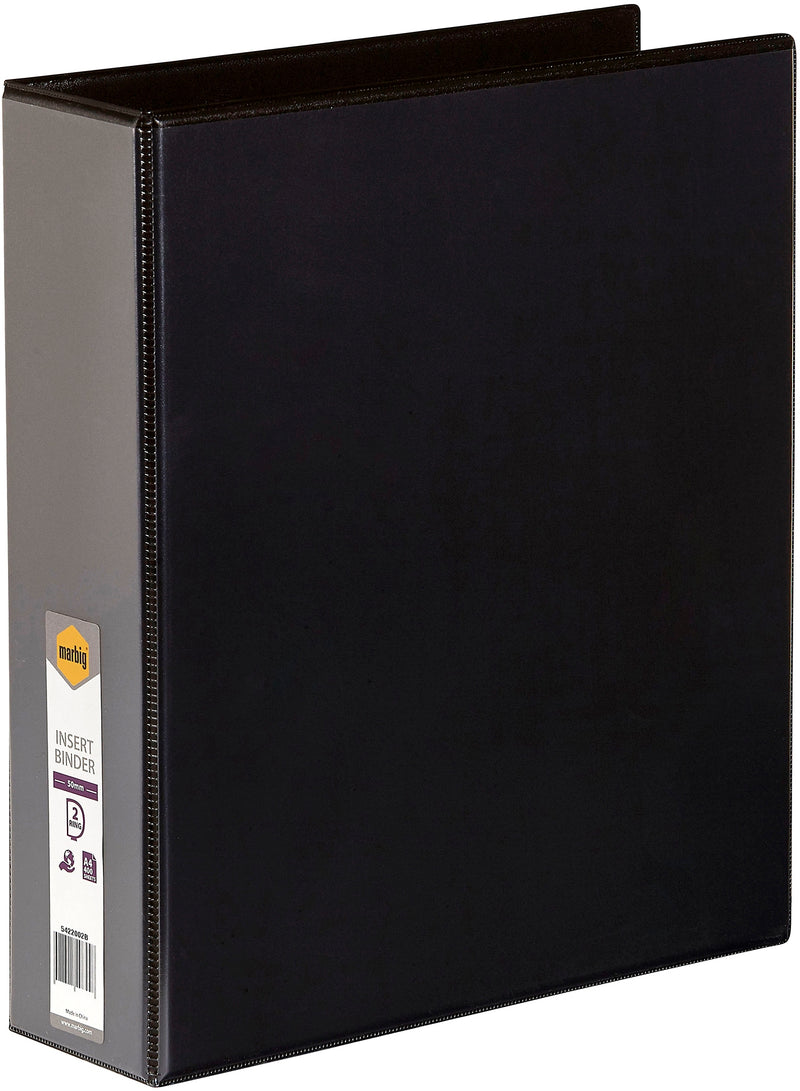 Insert Binder A4, 2 D-Ring 50mm Black