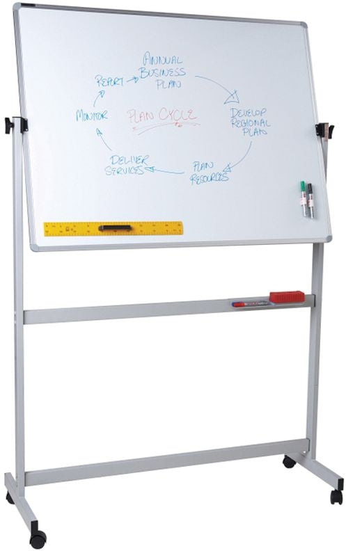 Whiteboard Mobile Pivoting 1500 x 1200mm