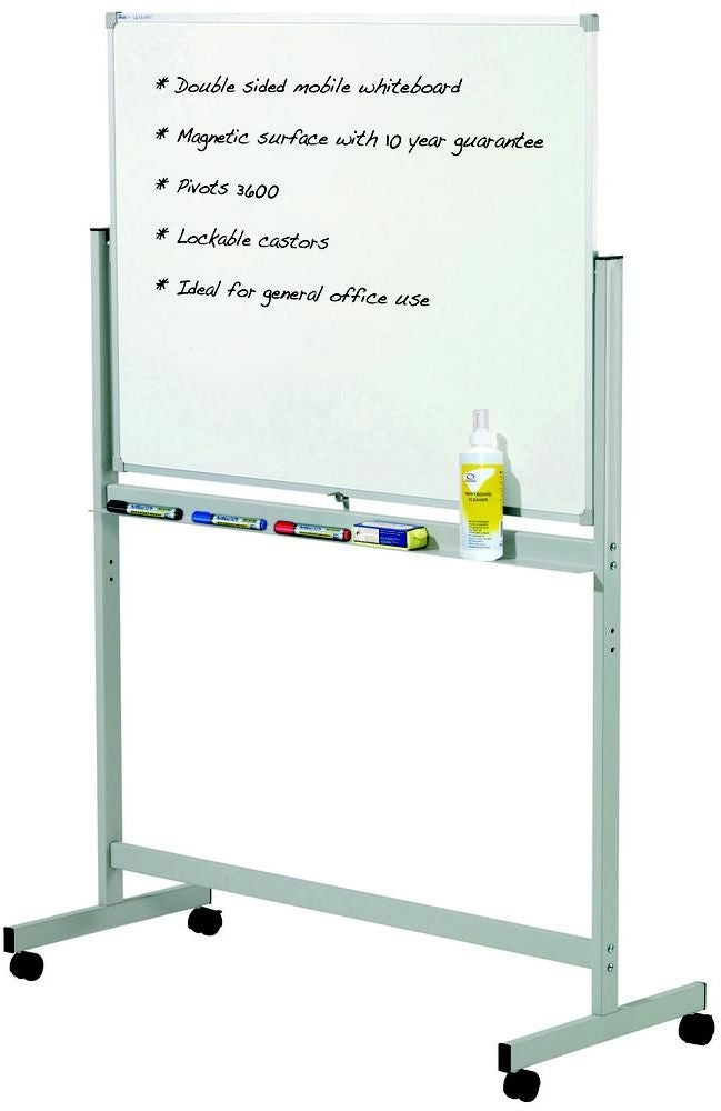 Quartet Penrite Whiteboard Mobile Pivoting 1800 x 1200mm Each