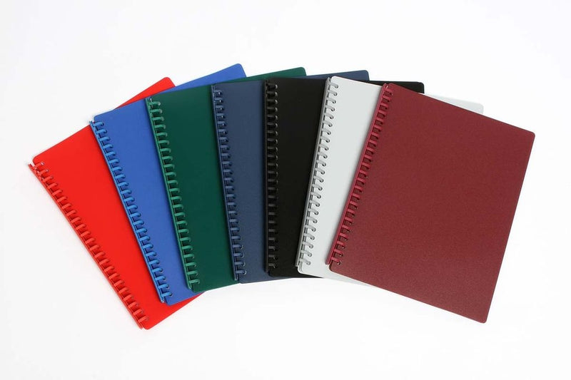 Cumberland Display Book Refillable A4 PP 20  Pockets Black