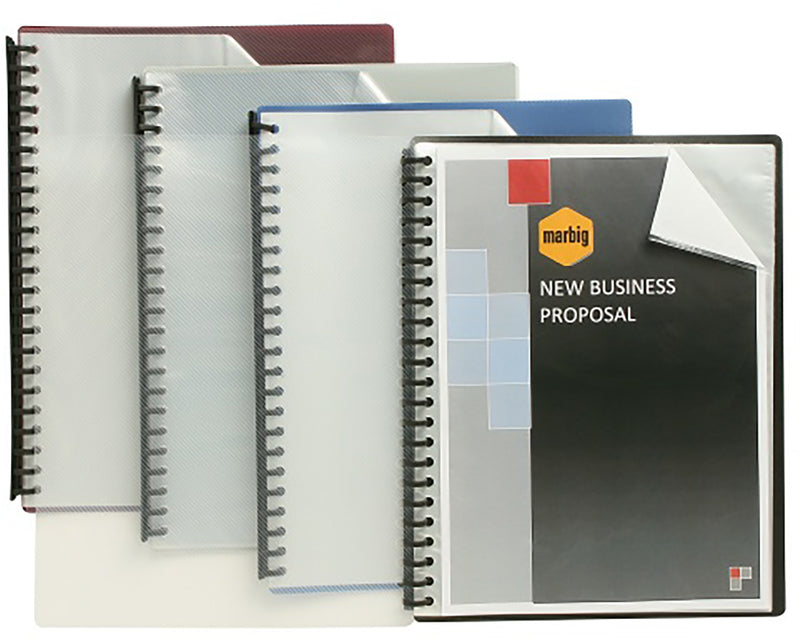 Marbig Display Book 2007203 Clearfront Refillable A4 Maroon Each
