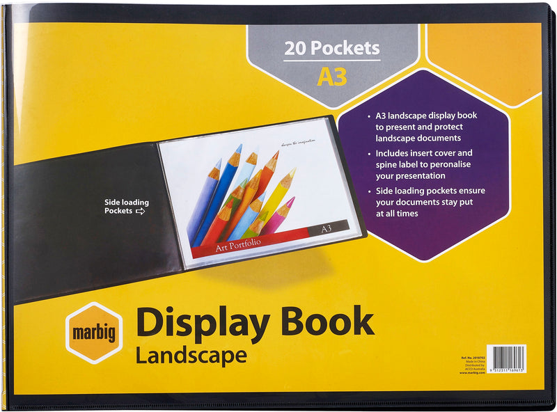 Display Book A3 Landscape With Insert Covers
