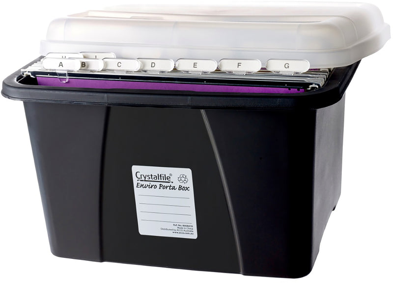 Crystalfile Box Porta 8008410 Enviro Black/Clear Each