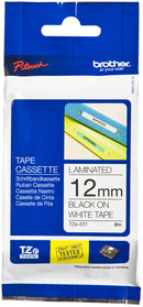Brother TZ231 Black on White 12mm x 8m Label Tape