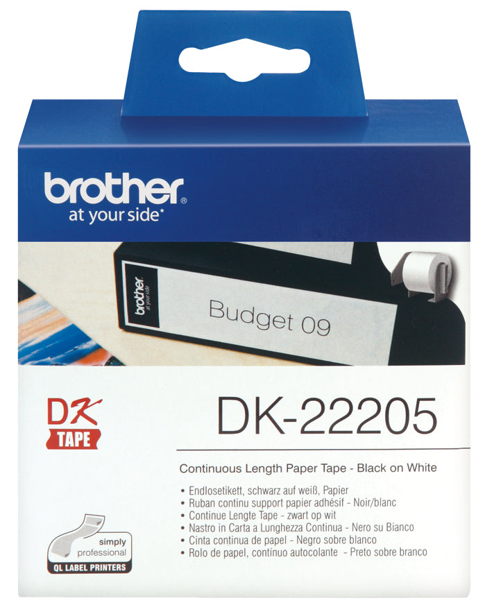Brother DK22205 Continuous 62mm x 30.48m Paper Roll