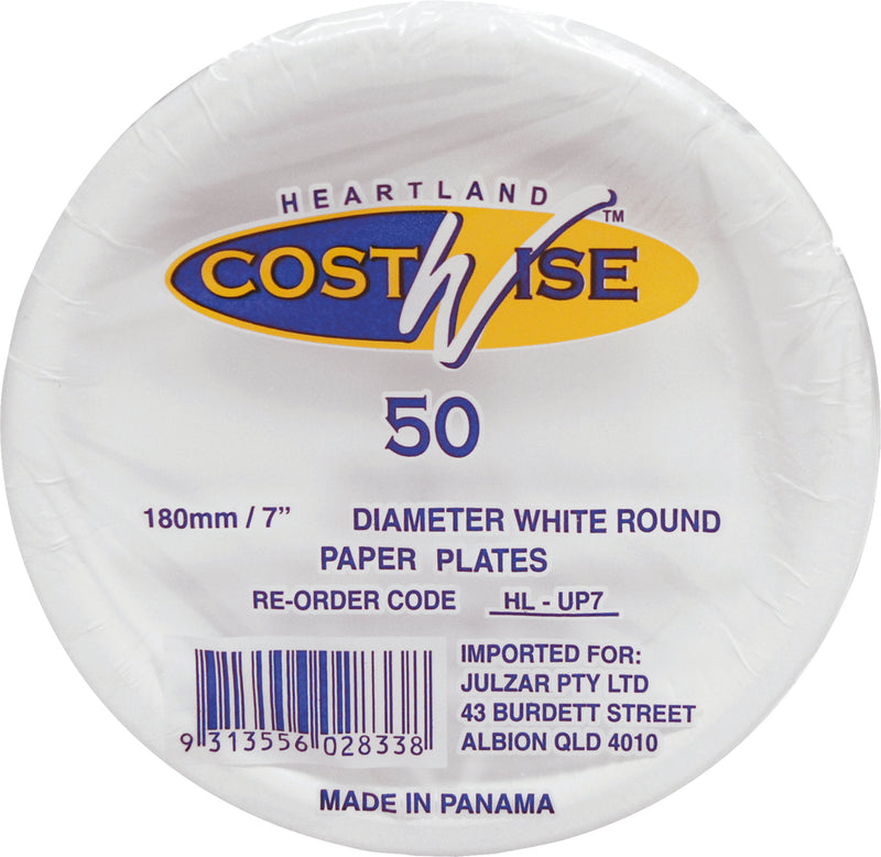 Paper Plates 180mm Up 7 50 Pack