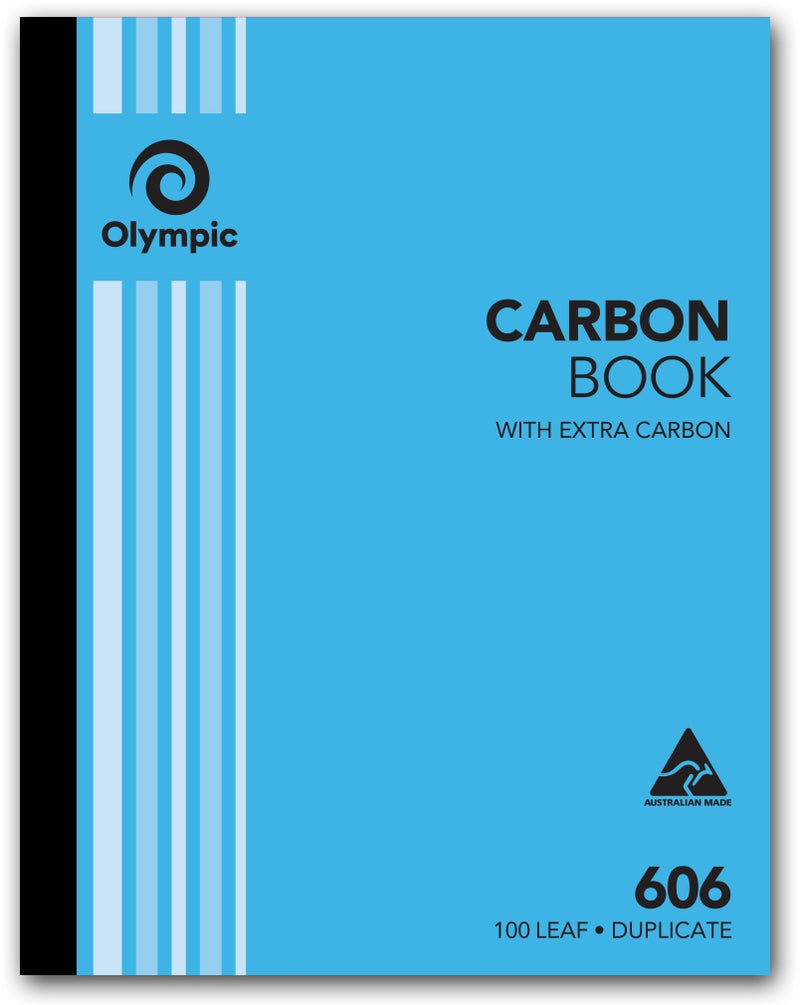Olympic 606 Carbon Book Duplicate 10x8 100 Leaf